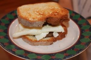 Gluten Free Sausage Egg Sandwich