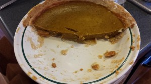 Gluten Free Pumpkin Pie - As you can see, it didn't last long!