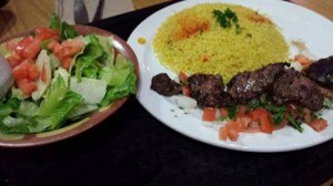 Habibi's - Shish Kabob on a platter